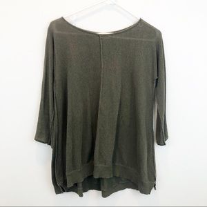 Anthropologie Sparrow Olive Green  Sweater